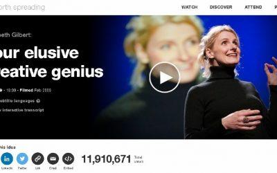 """Wunderbarer TED Talk über Genies von Elizabeth Gilbert nach ihrem Erfolg mit """"Eat – Pray – Love"""""""